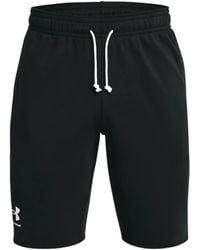 Under Armour Ua Rival Terry Men's Shorts - Black