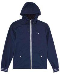 Original Penguin Ratner-Jacke mit durchgehendem Reißverschluss in Dark Sapphire 2.0 - Blau