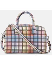 Ganni Top Handle Bag In Multicolor - Blue