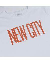 Saturdays NYC Weißes neues Stadt-T-Stück