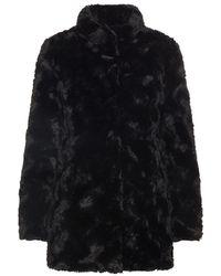 Vero Moda Fake Fur Coat - Black
