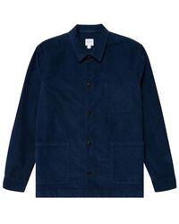 Sunspel Twin Pocket Jacket Ink Blue