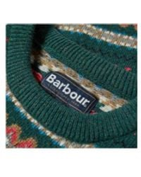 Barbour Green Crew Fairisle Knitwear