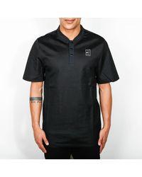 Nike Black And White Court Polo T Shirt