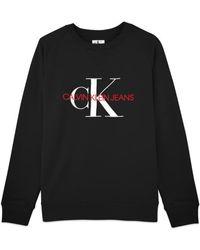 Calvin Klein Https://www.trouva.com/it/products/calvin-klein-washed-monogram-embroidered-crew-sweat-black - Nero