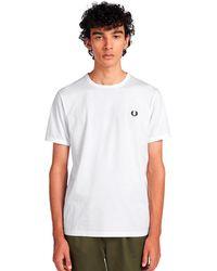 Fred Perry Camiseta blanca Ringer - Blanco