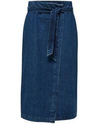 SELECTED Falda mezclilla - Azul