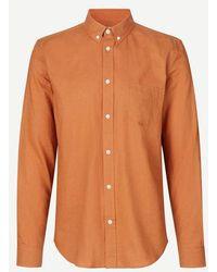 Samsøe & Samsøe Camisa Liam Adobe para hombre - Naranja