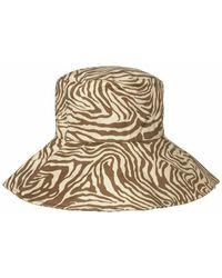 Samsøe & Samsøe Mountain Zebra Print Kenna Bucket Hat - Multicolor