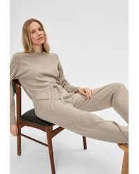 SELECTED Inka Cashmere Ls Strickoverall - Natur