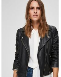 SELECTED Https://www.trouva.com/it/products/selected-femme-black-leather-biker-jacket-2 - Nero