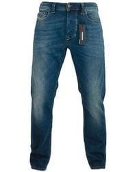 DIESEL Larkee Beex 84 Bu Jeans Effilés Bleu Foncé