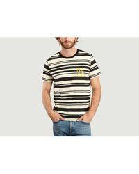 Nudie Jeans Camiseta Roy Barco en blanco y negro - Multicolor