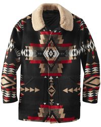 Pendleton Brownsville Shearling Collar Coat Rock Point - Multicolor