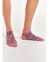 Essentiel Antwerp Alkiri Animal Print Socks Pink