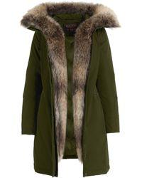 Woolrich Dark Green Polyester Luxury Boulder Coat