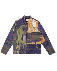 Folk X goss Brothers gabe veste print imprimer la dernière pièce - Multicolore