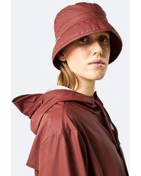 Rains Maroon Bucket Hat - Brown