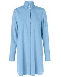 By Malene Birger Camisa cambray azul Hanafrida