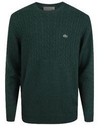 Lacoste Pullover Wool Jumper Ah 7944 Vert Green