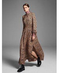Baum und Pferdgarten Amber Leopard Print Maxi Dress - Multicolor