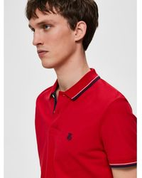 SELECTED Selected Red Polo With Lisere
