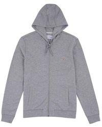Farah Kyle Hooded Sweatshirt - Light Marl - Grey