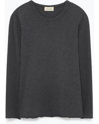 American Vintage - Charcoal Grey Bysapick T Shirt - Lyst