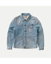 Nudie Jeans Tommy Broken Twill Denim Jacket - Bleu