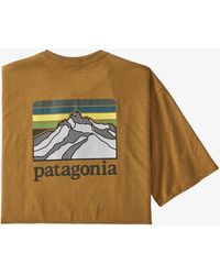 Patagonia Camiseta Responsibili con bolsillo con logo de línea para hombre - Metálico