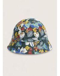 YMC Bucket Cotton Ripstop Floral Print Hat Multi Last Piece - Multicolour