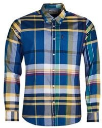 Barbour Highland 2 Tailored Fit Shirt - Blue