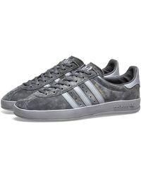 adidas Zapatos Broomfield cuero ante gris