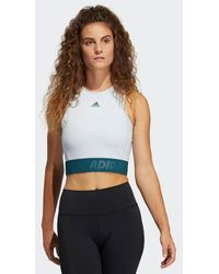 adidas Camiseta sin mangas corta Techfit Halo Blue Wild Teal - Azul