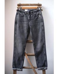 Scotch & Soda The Keeper Better jeans ajustados negros tiro medio