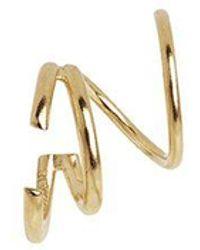 Maria Black Gold Bell Twirl gerader Ohrring - Mettallic