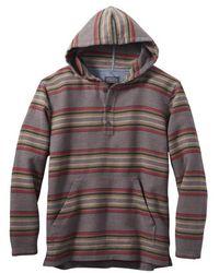 Pendleton Driftwood Hooded Flanell Sweat Mineral Umbra Stripe - Mehrfarbig