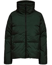 SELECTED Quilted Down Jacket In Scarab - Green