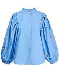 Essentiel Antwerp Zeatle Pailletten Pop Shirt in Halogen - Blau