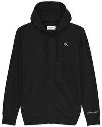 Calvin Klein Cappuccio con cerniera Essential nero