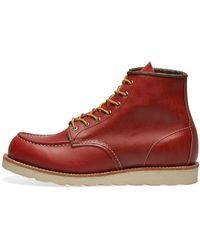 Red Wing Botas de hombre Moc Toe de cuero rojo Russet Portage de 6 pulgadas para hombre