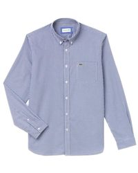 Lacoste Gingham Check Shirt Ch 0483 Blue White