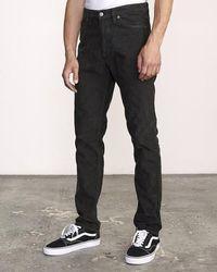 RVCA Pantalon Daggers Pigment Cord Noir