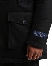 Woolrich Large Black Wool Loro Piana Detachable Fur Arctic Parka