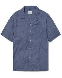 Albam Camicia a righe Panama - Blu