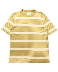 Folk T-shirt Rayé Highlight Chartreuse Jaune Doux