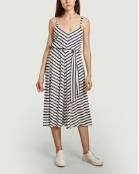 Être Cécile Paris Sun Striped Belted Dress - Multicolour