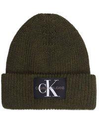 Calvin Klein Jeans Logo Beanie Oliva - Verde