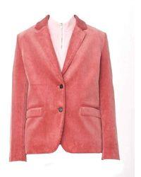 YMC Diane Cotton Cord Blazer Pink - Red