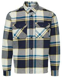 SELECTED Loose Guy Overshirt - Blau